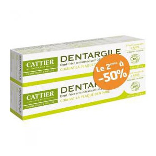 Cattier dentifrice dentargile anis 2 x75ml
