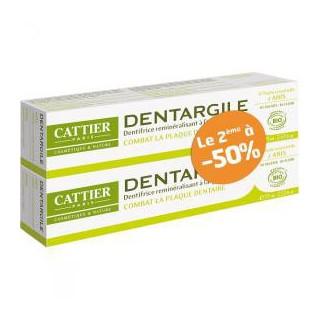Cattier Dentifrice dentargile Anis 2 x75ml