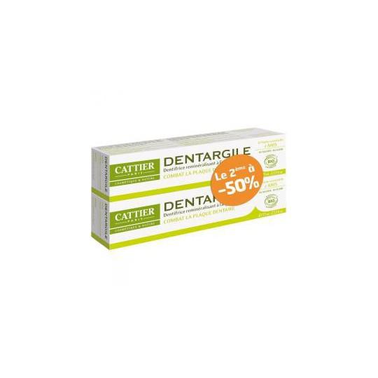 Cattier  Toothpaste dentargile Anis 2 x75ml