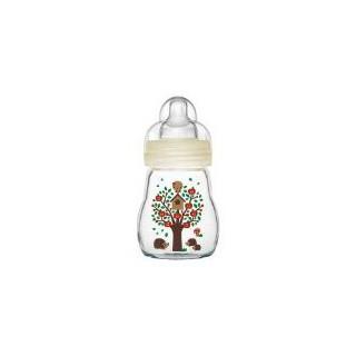Mam Glass bottle 170 ml Tétine Silk 0 Mois+