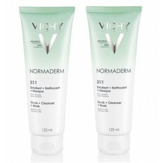 Vichy Normaderm 3-en-1 Lot 2x 125ml