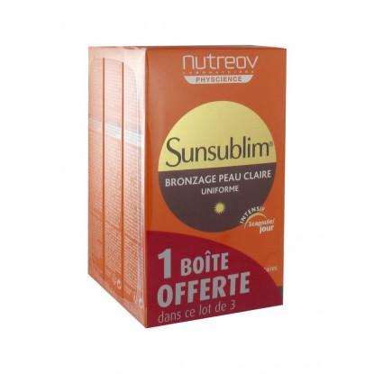 Nutreov Sunsublim Bronzage peau claire 3x30 capsules