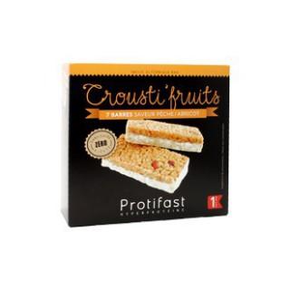 Protifast Crousti fruits Peche abricot 7 barres