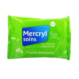 MercrylSoins 5 lingettes désinfectantes Pocket