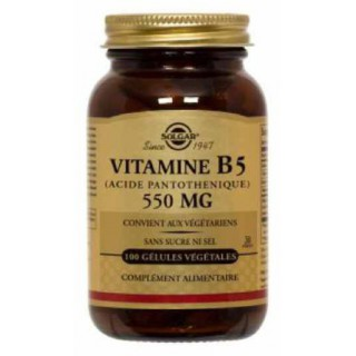 Solgar Acide Pantothénique 550 mg (Vitamine B5) 50 gélules