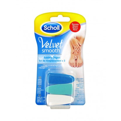 Scholl Velvet Smooth Sublime Ongles Kit 3 Recharges