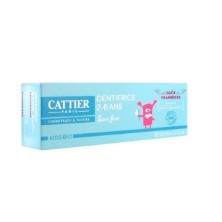 Cattier kids bio dentifrice framboise 2-6 Ans 50ml