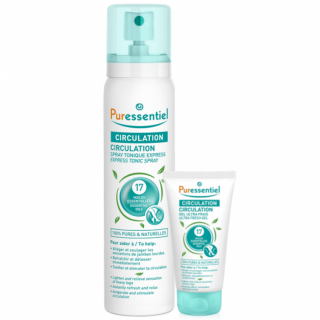 Puressentiel Spray circulation 100ml + Gel frais 10ml