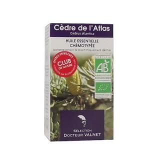 Cèdre de l'Atlas huile essentielle Valnet 10ml