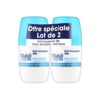 Etiaxil Déodorant Bille 48h anti transpirant lot 2