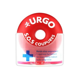 Urgo S.O.S Cuts Tape Stop Bleeding 3 m x 2,5 cm