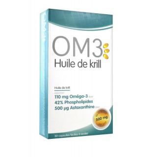 OM3 Krill Huile de Krill 500 mg 30 Capsules